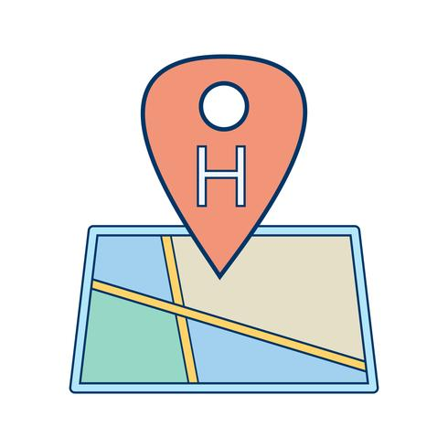 Vector Hospital Location Icon