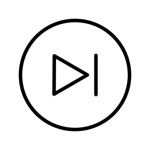 Illustration vectorielle prochaine icône