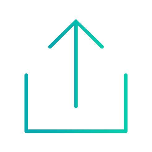 Upload pictogram vectorillustratie