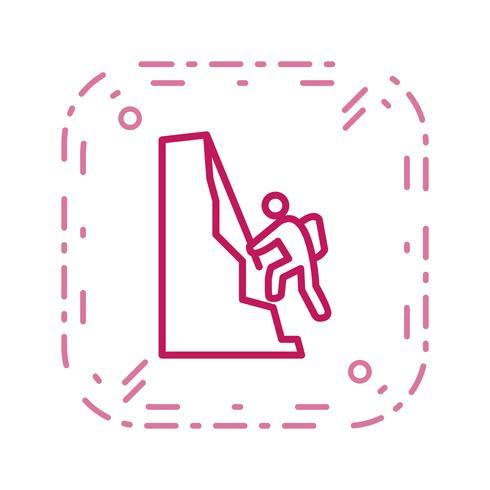 Klimmen pictogram vectorillustratie