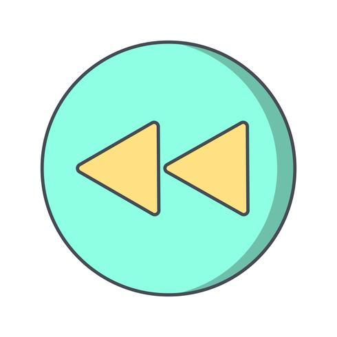 Ilustração em vetor de ícone de volta