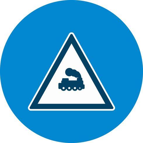 Vector Level crossing Train Road Sign Icon