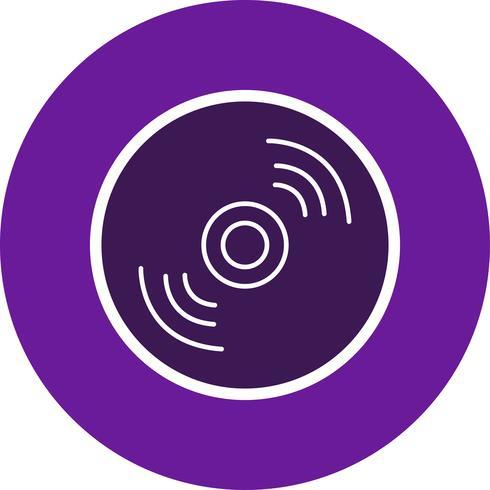 illustrazione vettoriale di icona del disco compatto