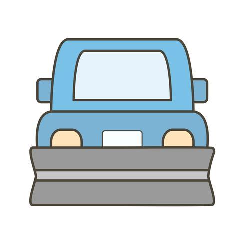Vector icono de quitanieves