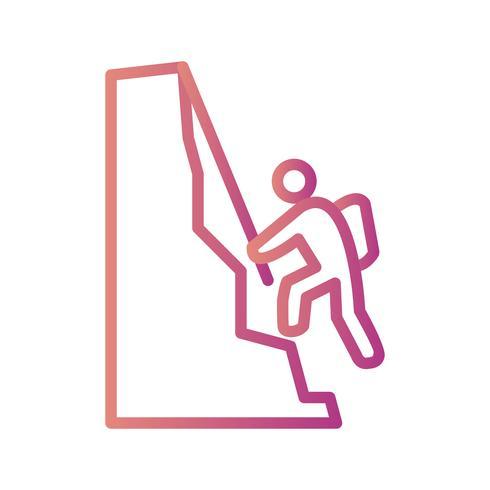 Kletternde Ikonen-Vektor-Illustration