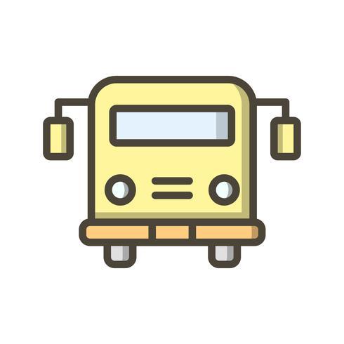 Vector schoolbus pictogram