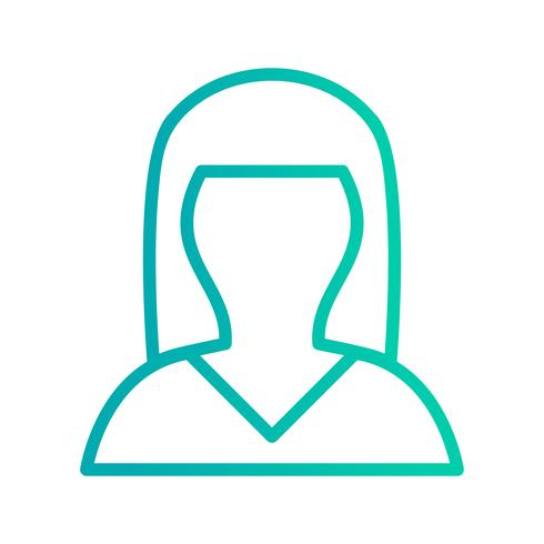 Female Avatar Icon Vector Illustration