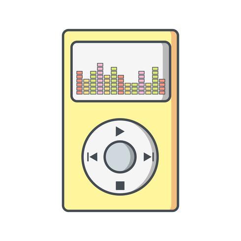 Icono de reproductor de música ilustración vectorial