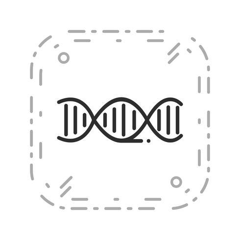 Vector icono de ADN