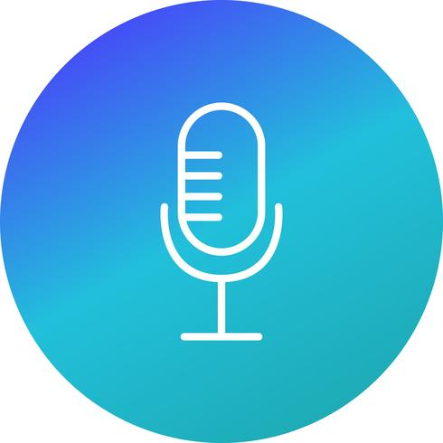 Mikrofon-Ikonen-Vektor-Illustration