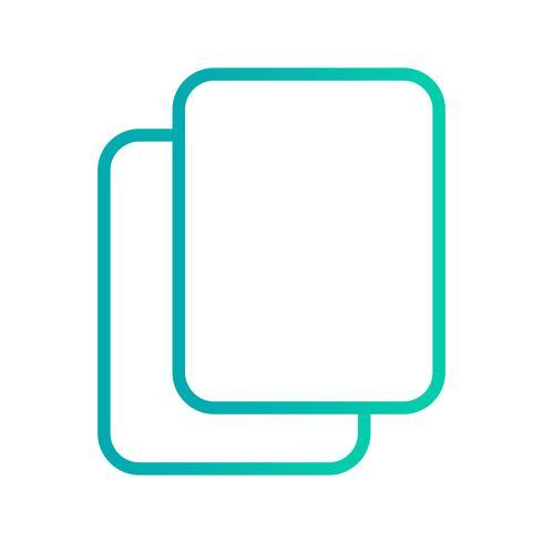 Copia icona illustrazione vettoriale