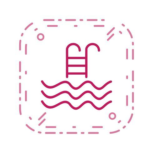simbassäng ikon vektor illustration