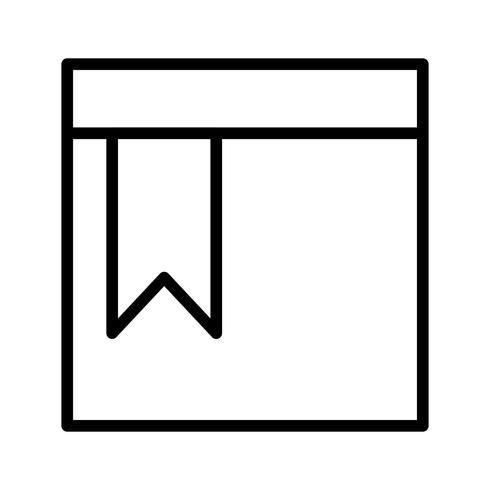 Symbol mit Vektor-Lesezeichen vektor