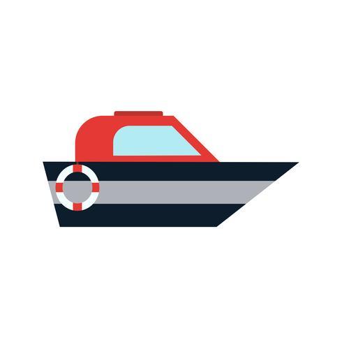 Ícone de barco de vetor
