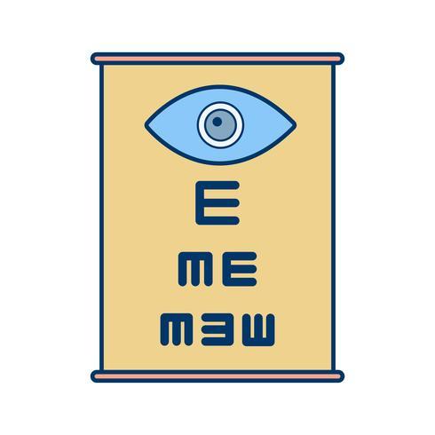 Vector icono de prueba de ojo