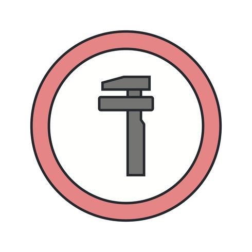 Vector Break Down Service Road Sign Icon