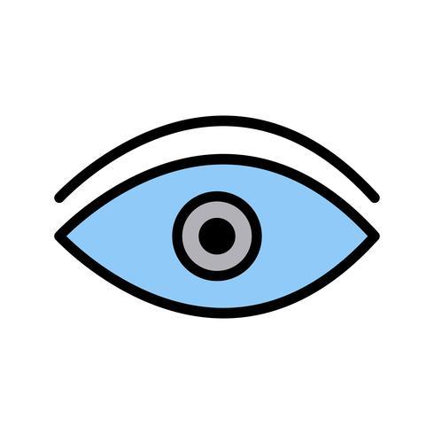 Ícone do olho do vetor