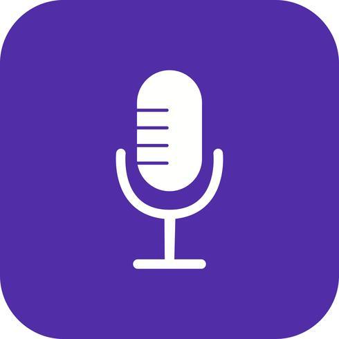Icono de micrófono Vector ilustración