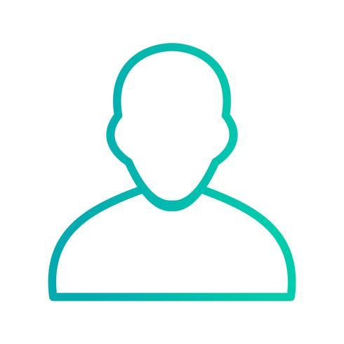 Icono de avatar ilustración vectorial