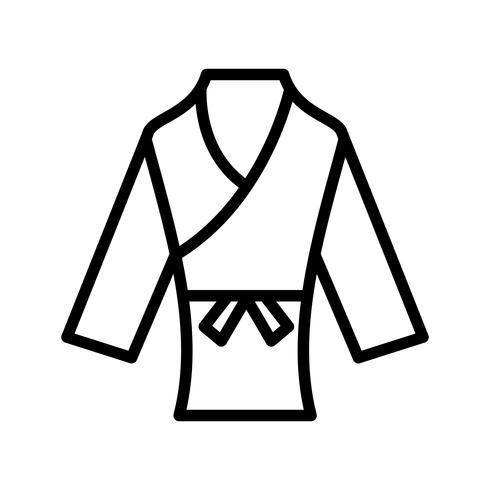 illustrazione vettoriale di karate icona