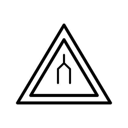 Vector estrada dupla termina ícone de sinal de estrada