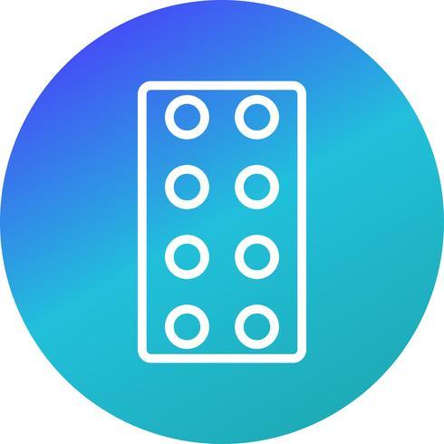 Vector icono de tabletas