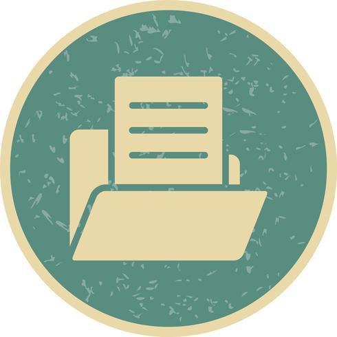 Document de vecteur dans l'icône de dossier