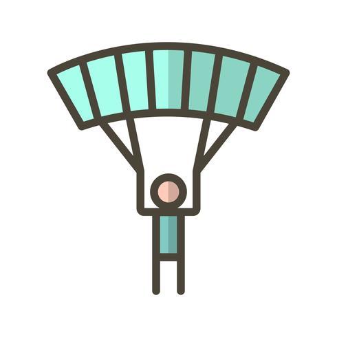 Illustration vectorielle de parachutiste icône vecteur