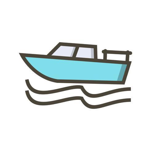 Vektor-Boot-Symbol