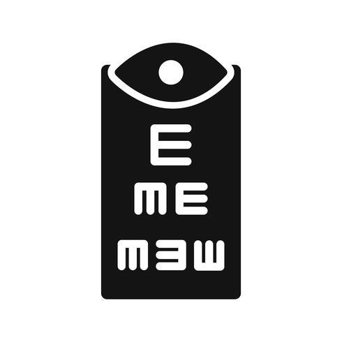 Icône de test oculaire de vecteur