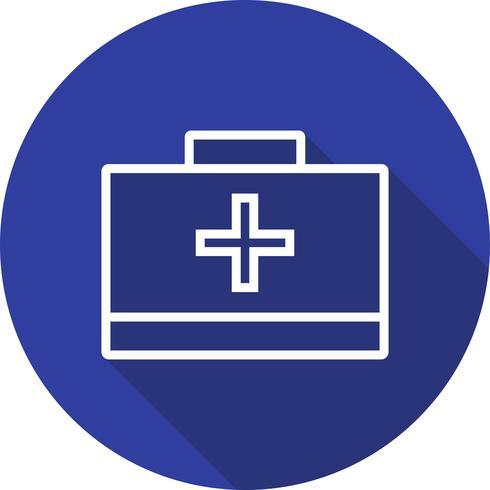 Vektor första hjälpen box ikon