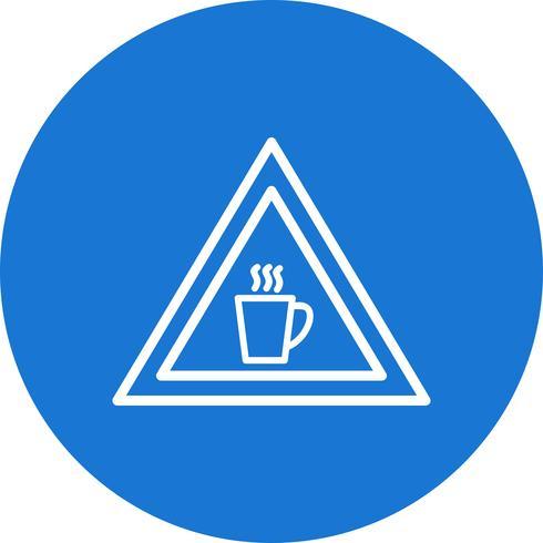 Icône de signe de route cafétéria de vecteur