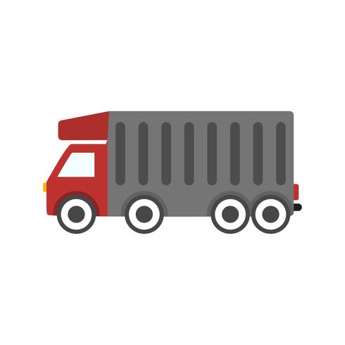 Vector Tipper Truck Icon