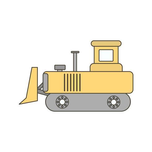 Vector Bulldozer Icon