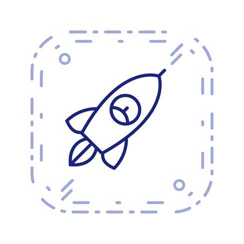 Vector icono de cohete