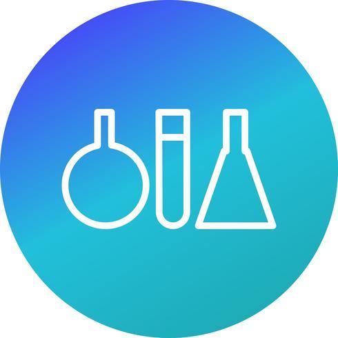 Vektor-Reagenzglas-Symbol