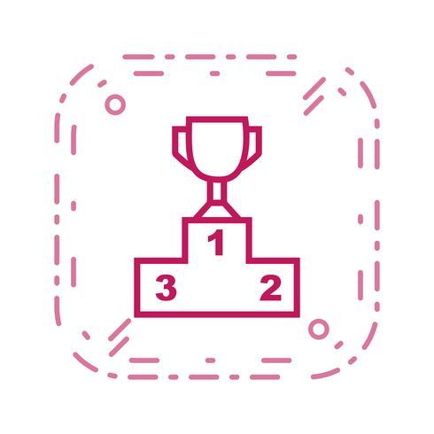 Podium Icône Vector Illustration