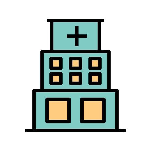 Icône d'hôpital de vecteur