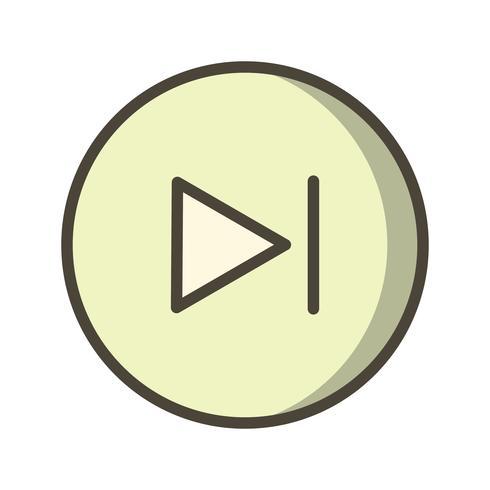 Volgende pictogram vectorillustratie
