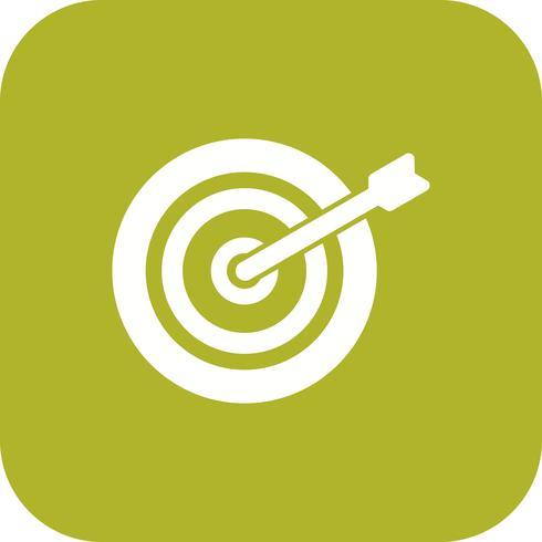 Icono de Bullseye ilustración vectorial vector