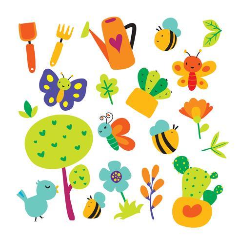 Gartenvektor-Sammlungsdesign