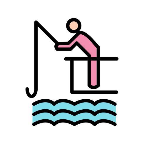 Fischerei-Ikonen-Vektor-Illustration vektor