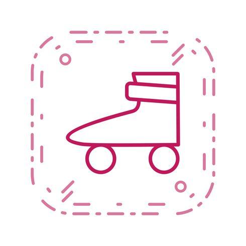 Icono de patín de ruedas ilustración vectorial