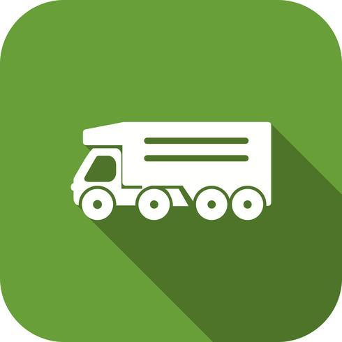 Ícone de caminhão basculante de vetor