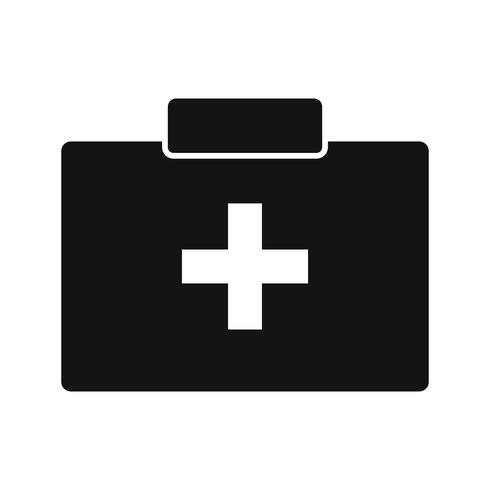 Icône de boîte de secourisme de vecteur
