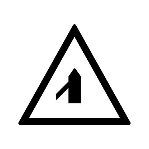 Vectorkleine Dwarsweg van Linker verkeerstekenpictogram
