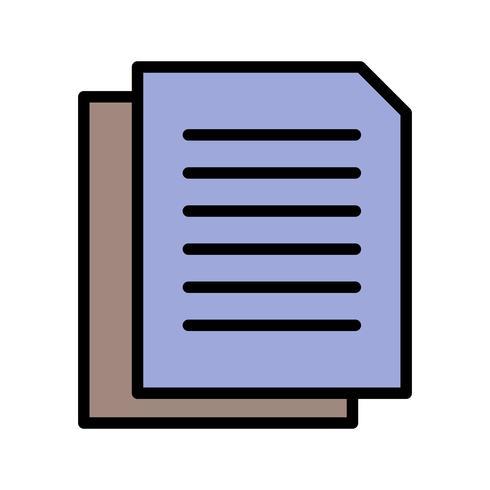 Icône de documents vectoriels