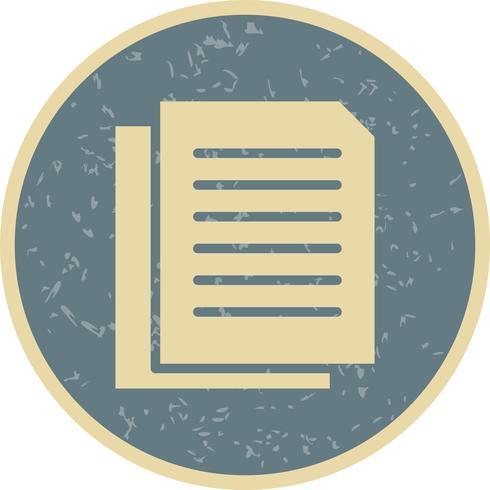Vector documenten pictogram