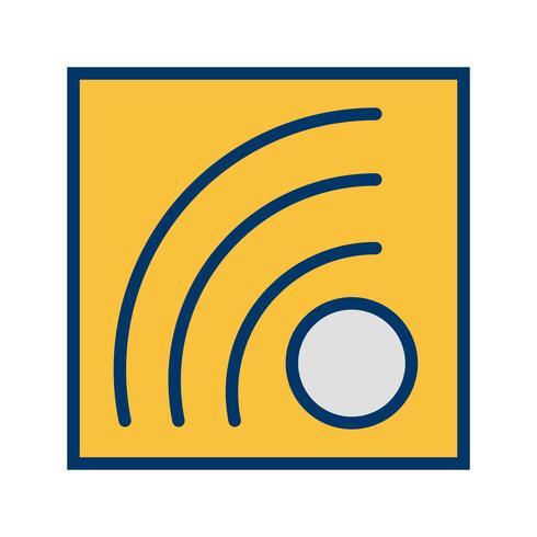 icono de vector rss feed
