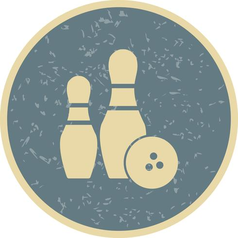 Bowling Ikon Vektor Illustration
